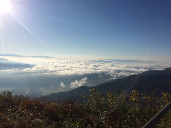八方池山荘からみた雲海