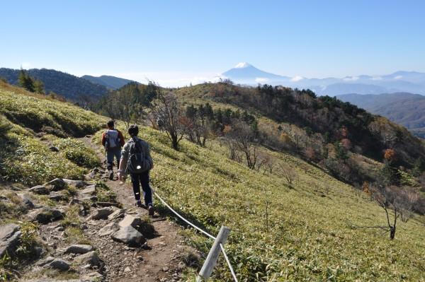 大菩薩峠への稜線