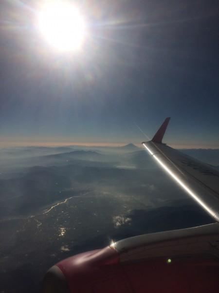 FDA機と富士山