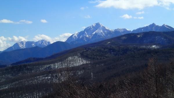 入笠山頂から甲斐駒ケ岳