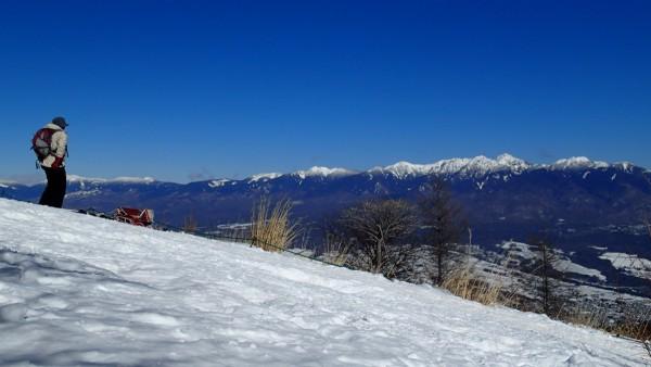 入笠山頂から八ヶ岳